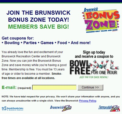 Bowling com coupon code
