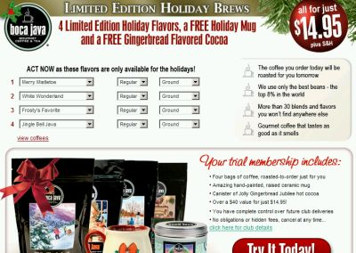 Sponsored: Boca Java Gourmet Coffee with Bonus 16 oz Scrapbook Mug - Savings Offer, Club Offer