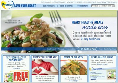 Promise Healthy Heart Margarine 500 Free Coupons Daily Starting at 9:00 a.m. PST - US