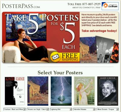 Sponsored: PosterPass Get 5 Posters for $5 Each and Free Shipping - Club Offer