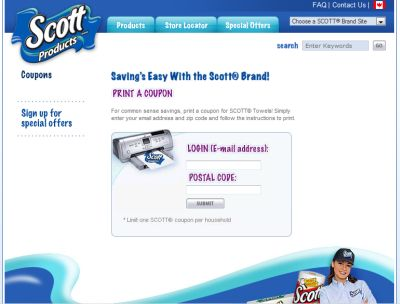 Scott Products Paper Towels Free Printable Coupon - Canada