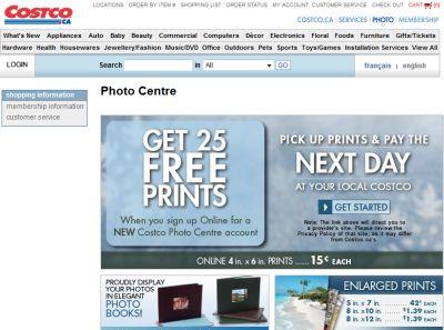 Costco canada printing