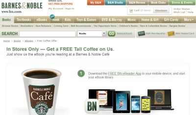 Barnes and Noble Cafe Free Tall Starbucks Coffee (Hot or ...