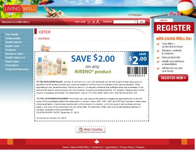 Aveeno Skin Care Save $2 Printable Coupon – Exp. December 31, 2010, Canada
