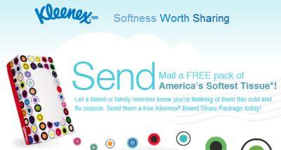 Kleenex Softness Worth Sharing Free Box of Kleenex - Canada and US