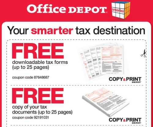 Office depot free printable coupons for free downloadable tax forms free copy of your tax - Office depot discount code ...