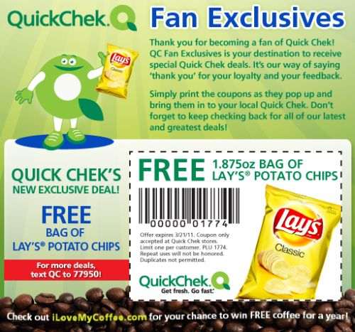 They even gave out a nice free bag of chips recently in a free sample promotion where you could even design your own bag. Lays Potato Chips $1 Off Coupon – Check out this deal for a possible one dollar off savings on your next purchase of a variety of their chips.