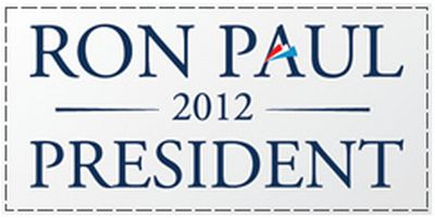 First National Bullion and Coin Free Ron Paul 2012 Bumper Sticker - US