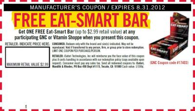 image relating to Gnc Coupons in Store Printable known as GNC or Vitamin Shoppe Absolutely free Printable Coupon for a Free of charge Try to eat