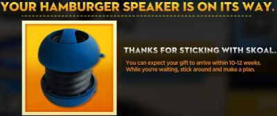 Free Hamburger Speaker from Skoal.com - Ages 21+, US