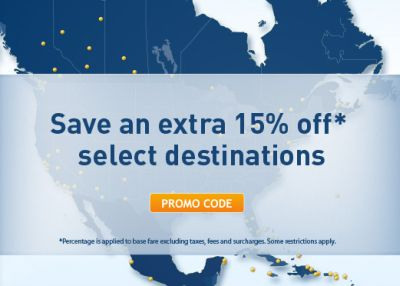 WestJet.com Save an Extra 15% off for Travel to All Canadian, Mexican, Caribbean and select U.S. Destinations - Exp. July 22, 2012