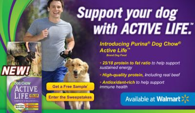 Walmart Free Purina Dog Chow Active life Sample - US