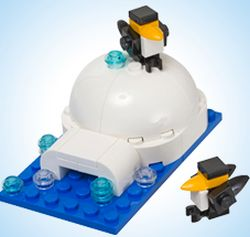 LEGO Store Monthly Mini Model Build Free Igloo Model Building on January 8, 2013