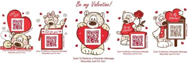 Qramel Free Samples of Valentine's Day Message Stickers