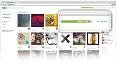 Rdio Online Radio and Music Free Access for Six Months