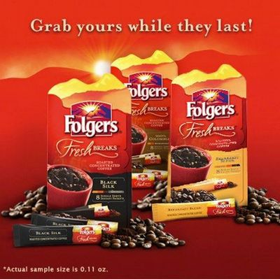 Folgers Fresh Breaks Coffee Free Sample via Facebook