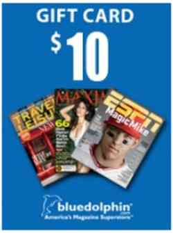 Mercury Magazines Get $10 Blue Dolphin Magazines Gift Card - US