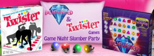 House Party Host a Bejeweled & Twister Game Night Slumber Party