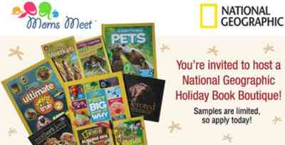 Mom's Meet Host a Free National Geographic Holiday Book Boutique - US
