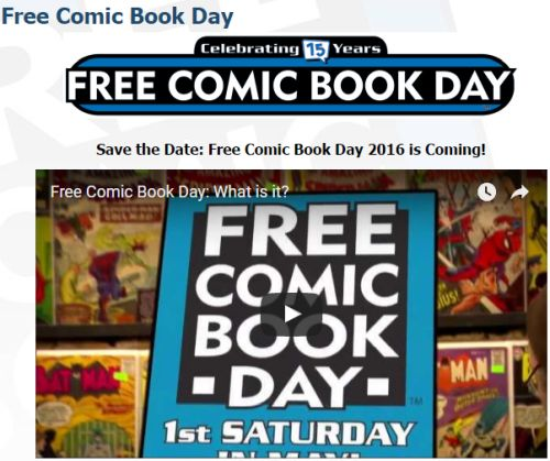 FreeComicBookDay.com Free Comic Book Day On Saturday, May