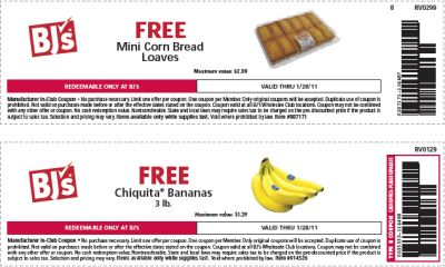 bjs printable coupons bj s club printable coupons for free mini corn 20619